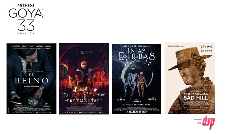 Felices por todas las nominaciones que tenemos en la 33 edición de los Premios Goya.